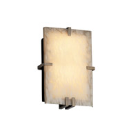 Justice Design Fusion Clips Rectangle Wall Sconce (Ada) in Antique Brass FSN-5551-DROP-ABRS photo thumbnail