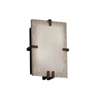 Justice Design Fusion Clips Rectangle Wall Sconce (Ada) in Dark Bronze FSN-5551-DROP-DBRZ