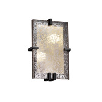 Fusion 2 Light 9 inch Matte Black ADA Wall Sconce Wall Light in Mercury Glass