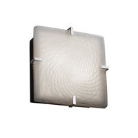 Fusion 2 Light 13 inch Polished Chrome Flush-Mount Ceiling Light in Weave