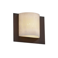 Justice Design Fusion Framed Square 3-Sided Wall Sconce (Ada) in Dark Bronze FSN-5560-DROP-DBRZ