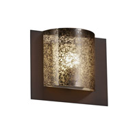 Fusion 1 Light 12 inch Dark Bronze ADA Wall Sconce Wall Light in Mercury Glass