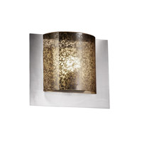 Justice Design FSN-5560-MROR-NCKL Fusion 1 Light 12 inch Brushed Nickel ADA Wall Sconce Wall Light in Mercury Glass