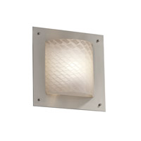 Justice Design Fusion Framed Square 4-Sided Wall Sconce (Ada) in Brushed Nickel FSN-5561-WEVE-NCKL
