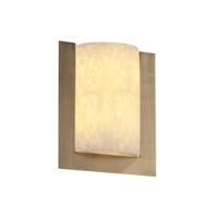 Justice Design Fusion Framed Rectangle 3-Sided Wall Sconce (Ada) in Antique Brass FSN-5562-DROP-ABRS