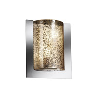 Justice Design FSN-5562-MROR-CROM Fusion 2 Light 12 inch Polished Chrome ADA Wall Sconce Wall Light in Mercury Glass photo thumbnail