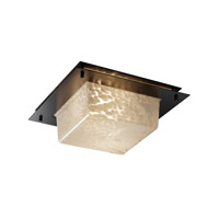 Justice Design Signature 2 Light Flush Mount in Matte Black FSN-5565-DROP-MBLK