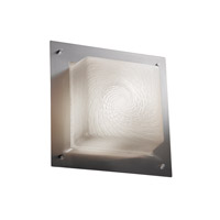 Justice Design Signature Wall Sconce in Brushed Nickel FSN-5565-WEVE-NCKL-LED-2000