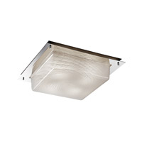 Signature 4 Light 16 inch Polished Chrome Flush Mount Ceiling Light in Weave