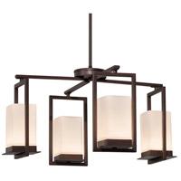 Justice Design FSN-7510W-OPAL-DBRZ Fusion LED 25 inch Dark Bronze Chandelier Ceiling Light in Opal