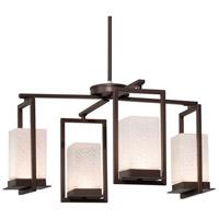 Justice Design FSN-7510W-WEVE-DBRZ Fusion LED 25 inch Dark Bronze Chandelier Ceiling Light in Weave