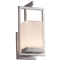 Justice Design FSN-7511W-OPAL-NCKL Fusion LED 6 inch Brushed Nickel Wall Sconce Wall Light in Opal