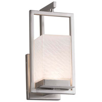 Justice Design FSN-7511W-WEVE-NCKL Fusion LED 6 inch Brushed Nickel Wall Sconce Wall Light in Weave