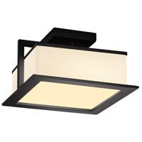 Justice Design FSN-7517W-OPAL-MBLK Fusion LED 12 inch Matte Black Flush Mount Ceiling Light