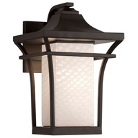 Justice Design FSN-7521W-WEVE-DBRZ-LED1-700 Fusion LED 9 inch Dark Bronze Wall Sconce Wall Light in 700 Lm LED Weave