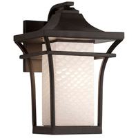 Justice Design FSN-7524W-WEVE-DBRZ-LED1-700 Fusion LED 11 inch Dark Bronze Wall Sconce Wall Light in 700 Lm LED Weave
