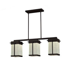 Justice Design FSN-7540W-RAIN-MBLK Fusion Pacific LED 8 inch Matte Black Outdoor Chandelier
