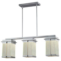 Justice Design FSN-7540W-RAIN-NCKL Fusion Pacific LED 8 inch Brushed Nickel Outdoor Chandelier