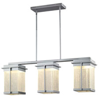 Justice Design FSN-7540W-SEED-NCKL Fusion Pacific LED 8 inch Brushed Nickel Outdoor Chandelier