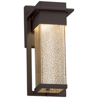 Justice Design FSN-7541W-SEED-MBLK Fusion LED 5 inch Matte Black Wall Sconce Wall Light in Seeded