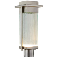 Justice Design FSN-7542W-RAIN-NCKL Fusion LED 18 inch Brushed Nickel Outdoor Post Light Rectangle