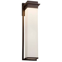 Justice Design FSN-7545W-MROR-NCKL Fusion LED 6 inch Brushed Nickel Wall Sconce Wall Light in Mercury Glass