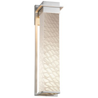 Justice Design FSN-7545W-WEVE-NCKL Fusion LED 6 inch Brushed Nickel Wall Sconce Wall Light in Weave