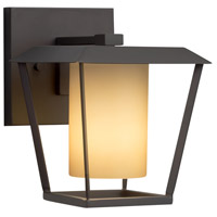 Justice Design FSN-7551W-10-ALMD-MBLK-LED1-700 Fusion LED 9 inch Outdoor Wall Sconce in 700 Lm LED Matte Black Almond