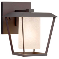 Justice Design FSN-7551W-10-FRCR-DBRZ Fusion 1 Light 7 inch Dark Bronze Wall Sconce Wall Light in Incandescent Frosted Crackle