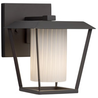 Justice Design FSN-7551W-10-RBON-MBLK-LED1-700 Fusion LED 9 inch Outdoor Wall Sconce in 700 Lm LED Matte Black Ribbon