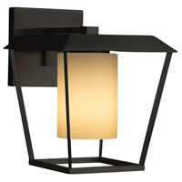 Justice Design FSN-7554W-10-ALMD-MBLK-LED1-700 Fusion LED 12 inch Outdoor Wall Sconce in 700 Lm LED Matte Black Almond