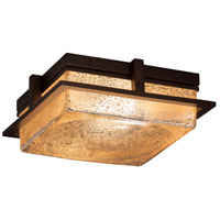 Justice Design FSN-7560W-WEVE-DBRZ Fusion LED 10 inch Dark Bronze Flush Mount Ceiling Light in Weave