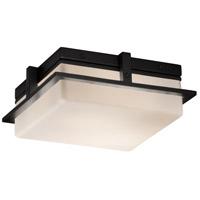 Justice Design FSN-7560W-OPAL-MBLK Fusion LED 10 inch Matte Black Flush Mount Ceiling Light in Opal