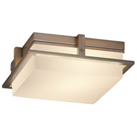 Justice Design FSN-7560W-OPAL-NCKL Fusion LED 10 inch Brushed Nickel Flush Mount Ceiling Light in Opal