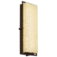 Justice Design FSN-7564W-WEVE-NCKL Fusion 18 inch Outdoor Wall Sconce in Brushed Nickel, Weave