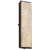 Justice Design FSN-7565W-MROR-MBLK Fusion LED 7 inch Matte Black ADA Wall Sconce Wall Light in Mercury Glass
