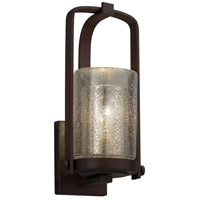 Justice Design FSN-7581W-10-DROP-NCKL-LED1-700 Fusion LED 13 inch Outdoor Wall Sconce in 700 Lm LED, Brushed Nickel, Droplet