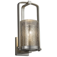 Justice Design FSN-7581W-10-MROR-NCKL-LED1-700 Fusion LED 13 inch Outdoor Wall Sconce in 700 Lm LED Brushed Nickel Mercury Glass
