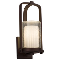 Justice Design FSN-7581W-10-RBON-DBRZ-LED1-700 Fusion LED 13 inch Outdoor Wall Sconce in 700 Lm LED Dark Bronze Ribbon