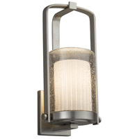 Justice Design FSN-7581W-10-RBON-NCKL-LED1-700 Fusion LED 13 inch Outdoor Wall Sconce in 700 Lm LED Brushed Nickel Ribbon