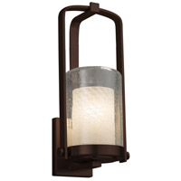 Justice Design FSN-7581W-10-WEVE-DBRZ-LED1-700 Fusion LED 13 inch Outdoor Wall Sconce in 700 Lm LED Dark Bronze Weave