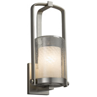 Justice Design FSN-7581W-10-WEVE-NCKL Fusion 1 Light 13 inch Outdoor Wall Sconce in Brushed Nickel Weave Incandescent