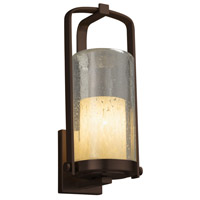 Justice Design FSN-7584W-10-MROR-DBRZ Fusion 1 Light 17 inch Outdoor Wall Sconce in Dark Bronze, Mercury Glass, Incandescent