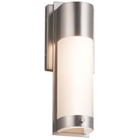 Justice Design FSN-7601W-MROR-MBLK Fusion LED 5 inch Matte Black ADA Wall Sconce Wall Light in Mercury Glass