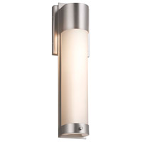Justice Design FSN-7602W-MROR-MBLK Fusion LED 5 inch Matte Black ADA Wall Sconce Wall Light in Mercury Glass