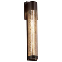 Justice Design FSN-7604W-MROR-DBRZ Fusion LED 5 inch Dark Bronze ADA Wall Sconce Wall Light in Mercury Glass