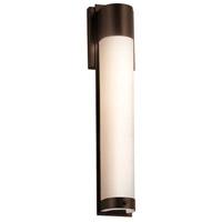 Justice Design FSN-7604W-OPAL-DBRZ Fusion LED 5 inch Dark Bronze ADA Wall Sconce Wall Light in Opal