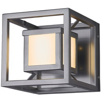 Justice Design FSN-7620W-OPAL-NCKL Fusion LED 7 inch Brushed Nickel Outdoor Wall Sconce, Square