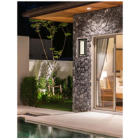 Justice Design FSN-7624W-MROR-MBLK Fusion Bayview LED 18 inch Matte Black Outdoor Wall Sconce