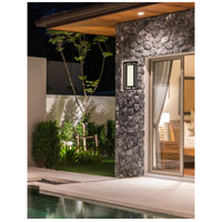 Justice Design FSN-7624W-OPAL-MBLK Fusion Bayview LED 18 inch Matte Black Outdoor Wall Sconce
